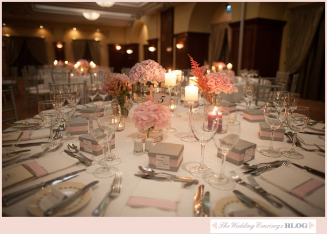 Pink Centerpieces Wedding