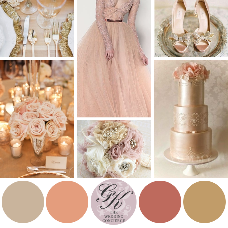 Champagne And Gold Wedding Shoes