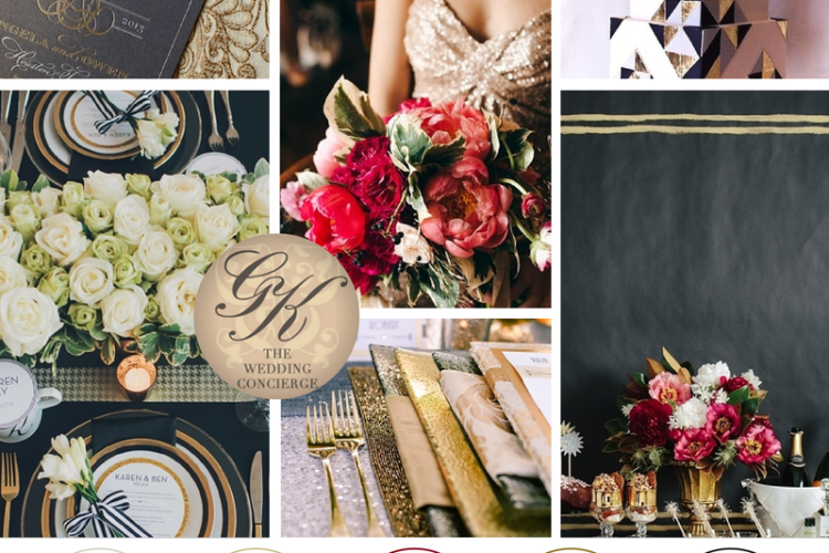 Modern Gold & Black Wedding Inspiration