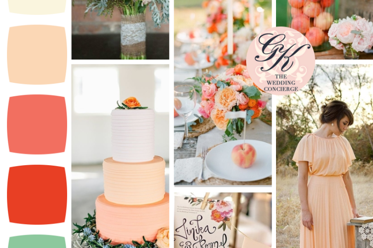 Just Peachy Wedding Inspiration