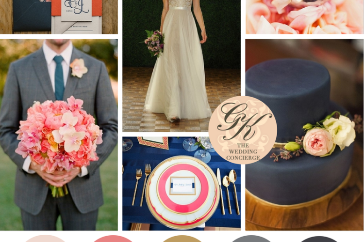 Navy & Pink Wedding Inspiration