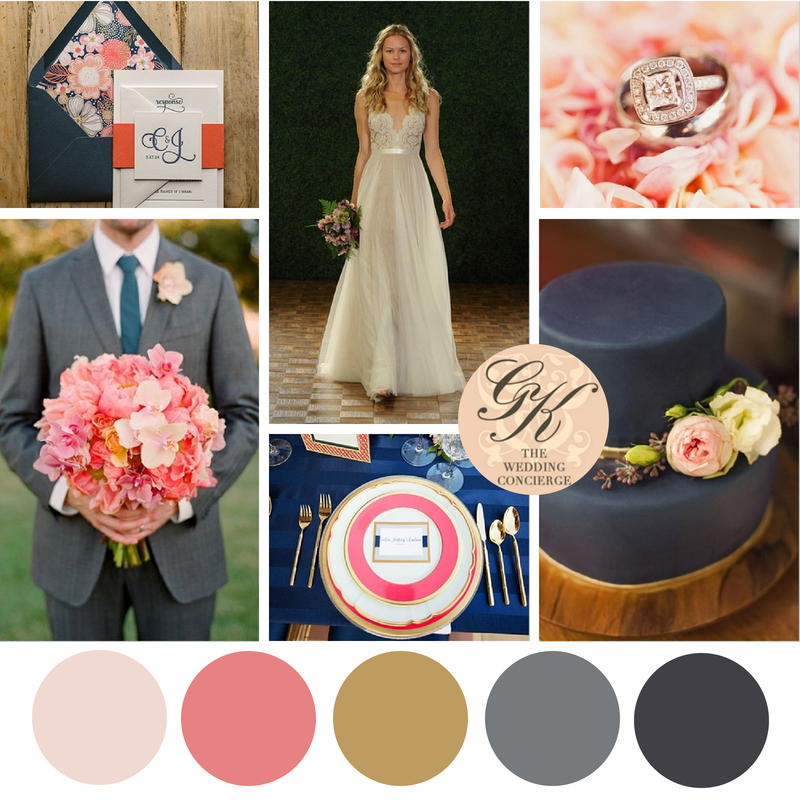 Navy And Blush Wedding.Navy Pink Wedding Inspiration