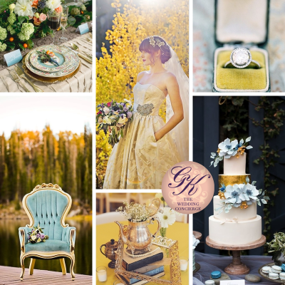 Pale Blue and Yellow Wedding Inspiration