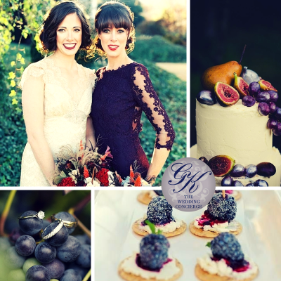 Aubergine Wedding Inspiration