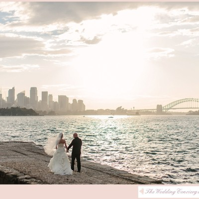 Romantic Sydney Harbor Wedding – Mr. & Mrs. Champagne