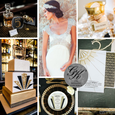 New Years Eve Great Gatsby Wedding Inspiration