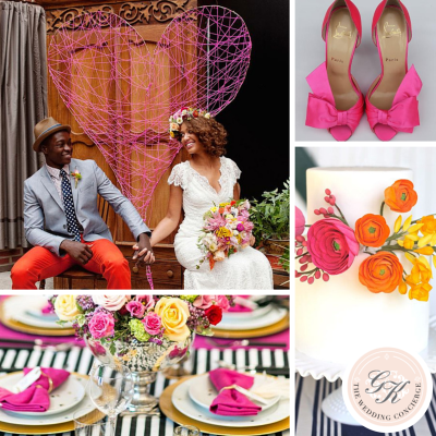 Colorful Valentine's Day Wedding Inspiration Board