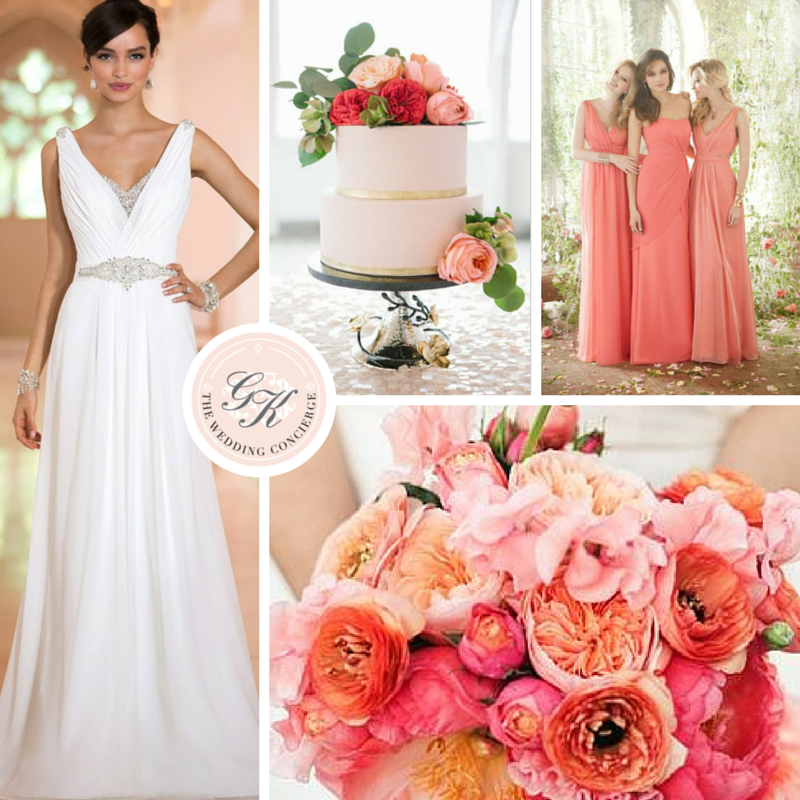 Romantic Coral & Pink Wedding Inspiration Board