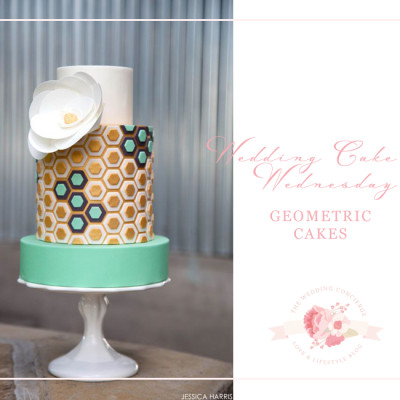 Wedding Cake Wednesday – Geometric Cakes