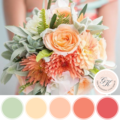 Peach & Mint Spring Bouquet Inspiration Board