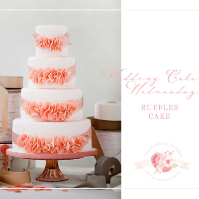 Wedding Cake Wednesday – Ruffle Cakes