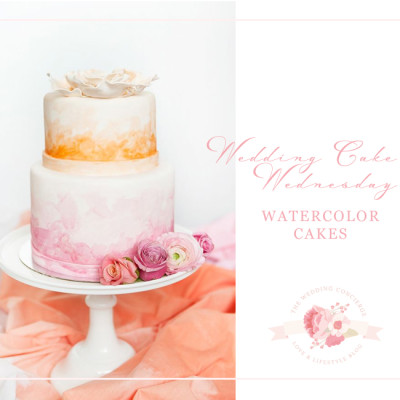 Wedding Cake Wednesday – Watercolor Cakes
