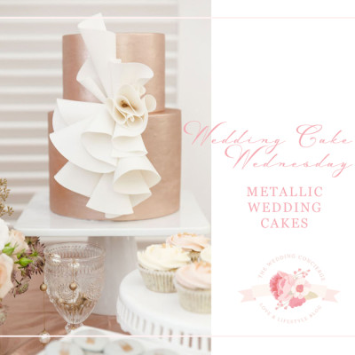 Wedding Cake Wednesday – Metallic Wedding Cakes