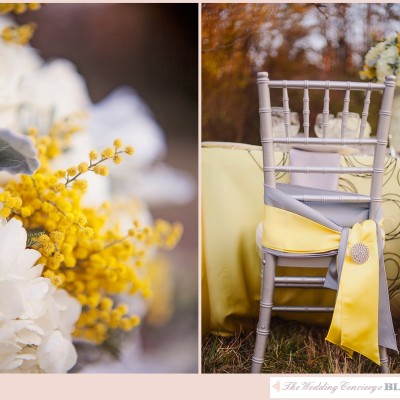 Grey & Yellow Styled Shoot at The Ivy Place