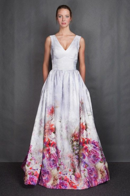 Floral-Wedding-Gown