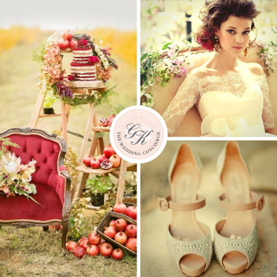 Lush Pomegranate & Cream Wedding Inspiration