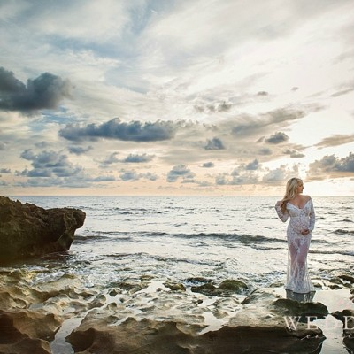 Sunset Maternity Session by J'adore Studios