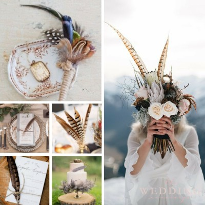 Wedding Theme Wednesday | Feather Wedding Inspiration