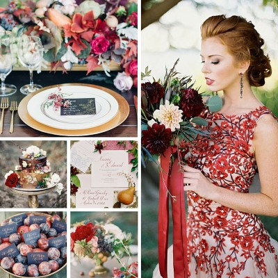 Wedding Theme Wednesday | Gilded Crimson