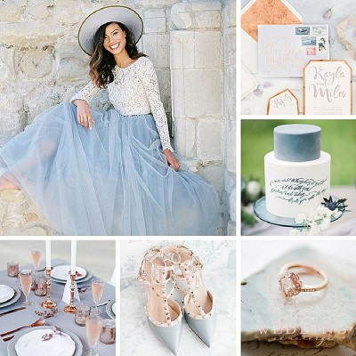 Serenity & Copper Wedding Inspiration