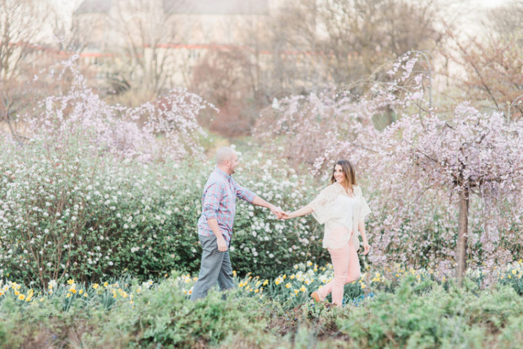 Charming Cherry Blossom Engagement