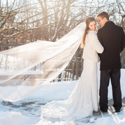 Snowy Minnesota Marriage